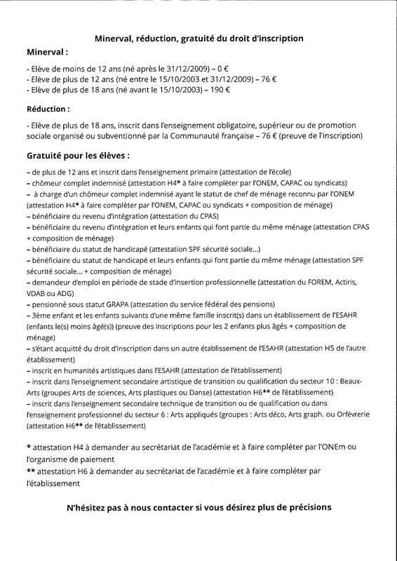 Exemptions Académie De Nivelles