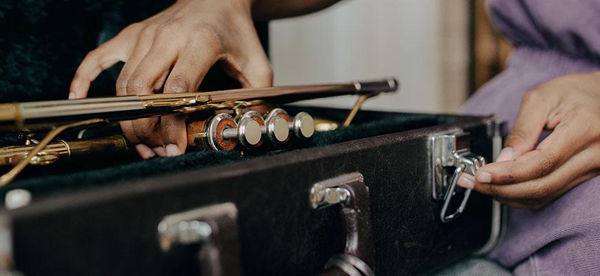 Prêt d'instrument à l'académie de Nivelles
